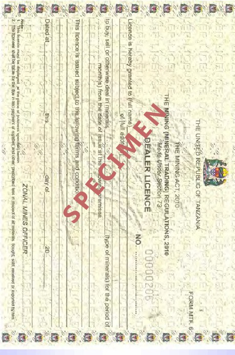 Gold Dealers License