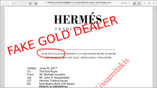 Hermes Trading House and fraudulent gold deals
