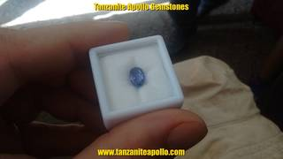 Oval shaped Tanzanite gemstone