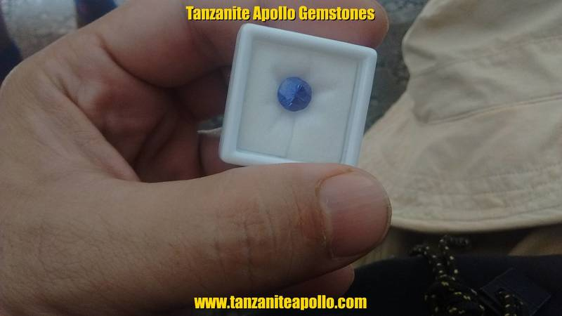 Tanzanite of round shape