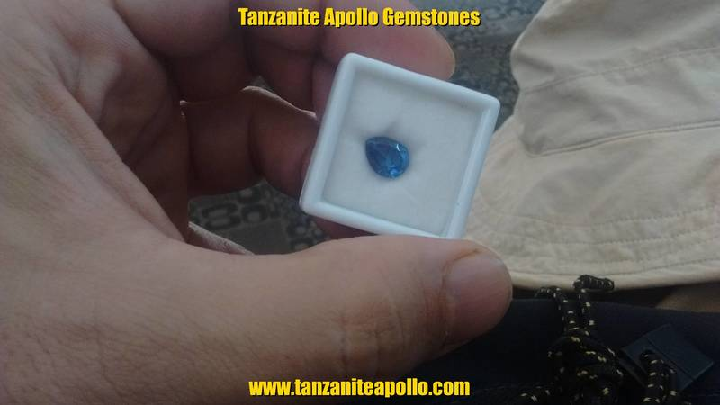 Teardrop shaped Tanzanite gemstone
