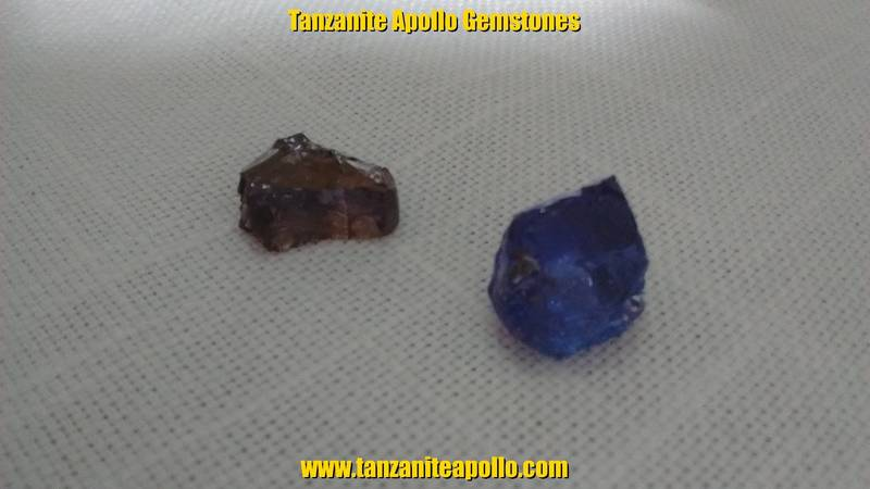 Rough Tanzanite gemstones