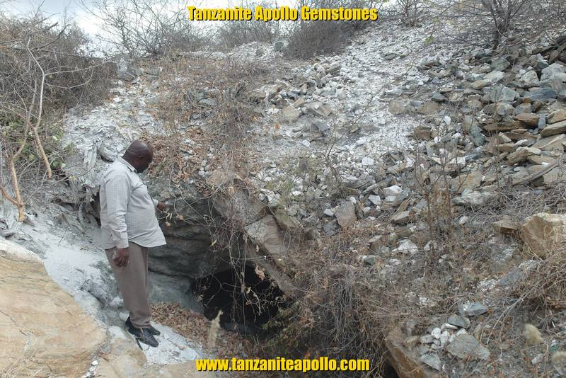 Mining shaft for prospecting of Tanzanite gemstone