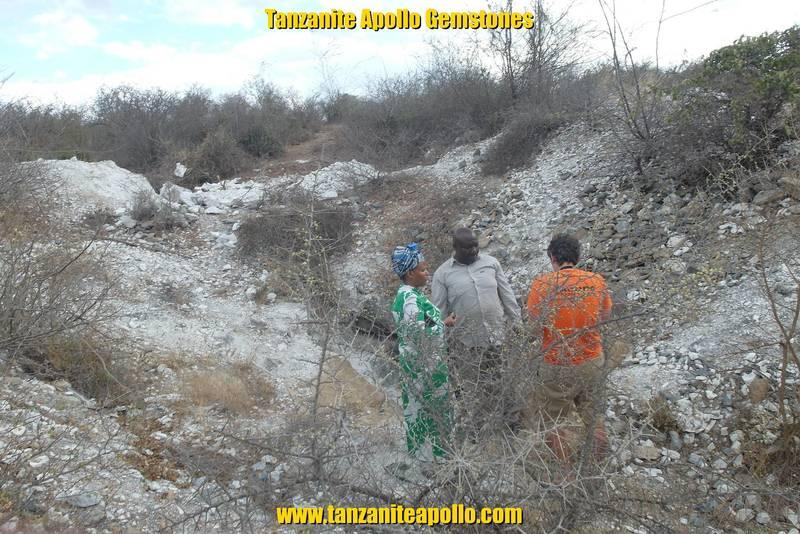 Examining the rocks on Mirerani Hills, Tanzania