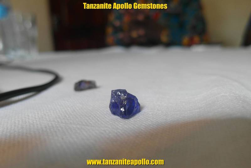Rough blue Tanzanite gemstone