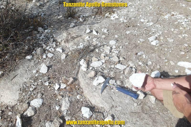 Dolomitic marble on Mirerani Hills
