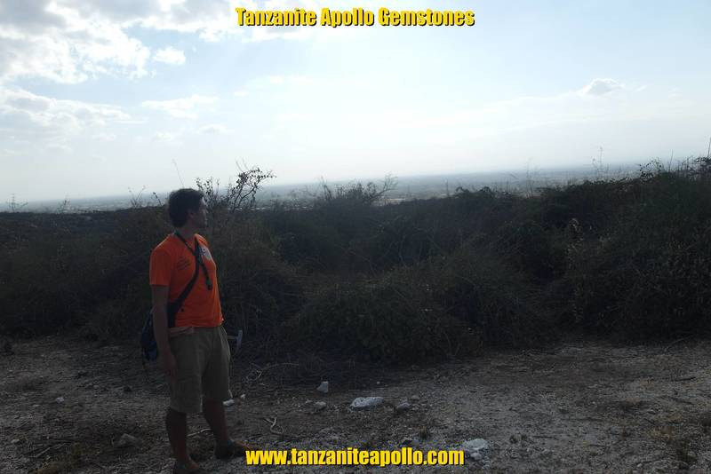 Mr. Jean Louis and view from Mirerani Hills in Tanzania