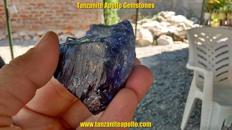 Beautiful Tanzanite gemstone specimen