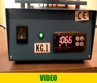 The front panel of the melting oven for 1 kg of gold