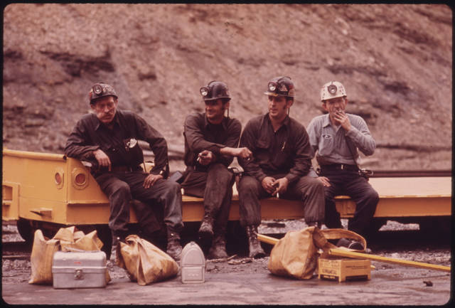 Miners waiting for work