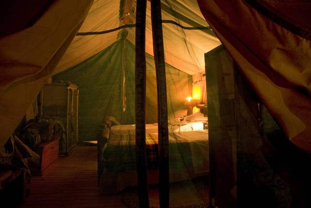 Camping and accommodation on the mining site