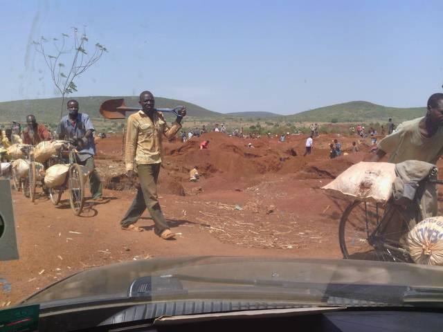 Small scale miners working in Tanzania