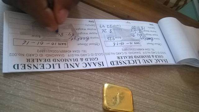 Selling 64.80 grams of gold in Ghana