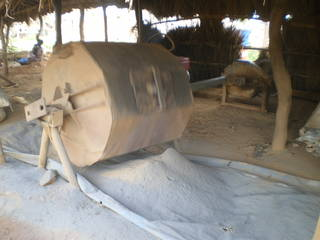 Local Tanzanian rock crusher