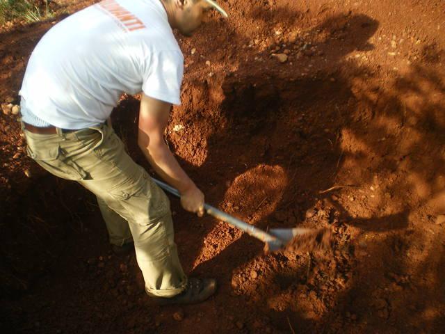 Prospecting on the mining land