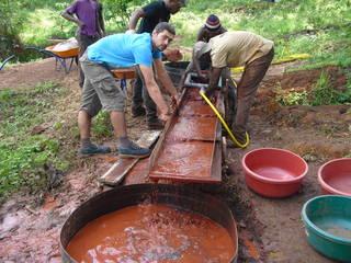 Testing gold bearing ores