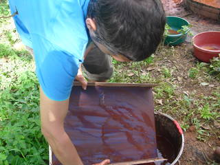 Collecting concentrate after washing of gold bearing ores